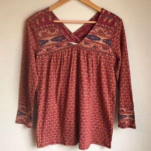 Lucky Brand long sleeve tunic size small